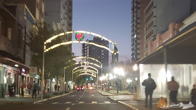 Uma das ruas do Centro de Bento Gonçalves