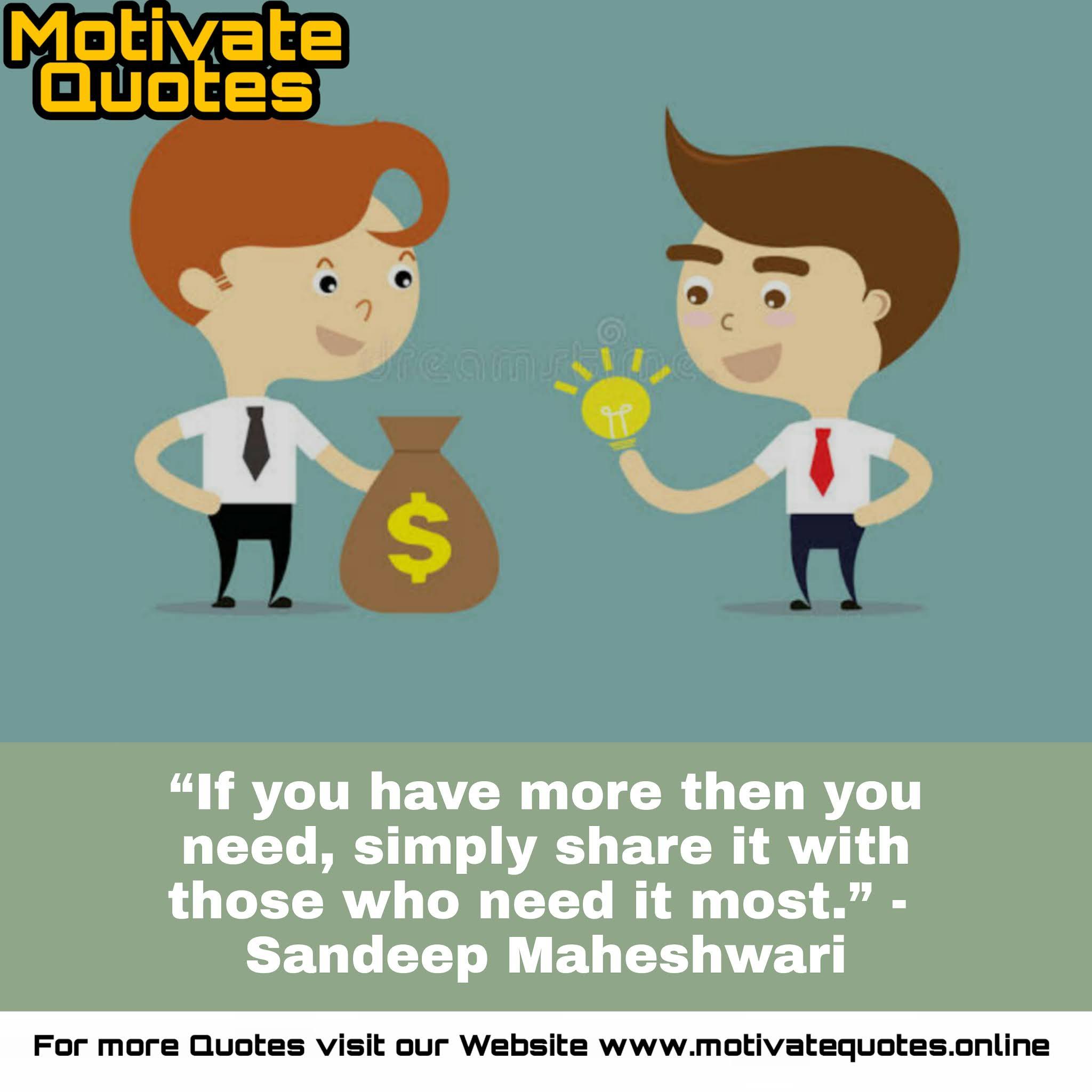 Motivational Quotes by Sandeep Maheshwari in English