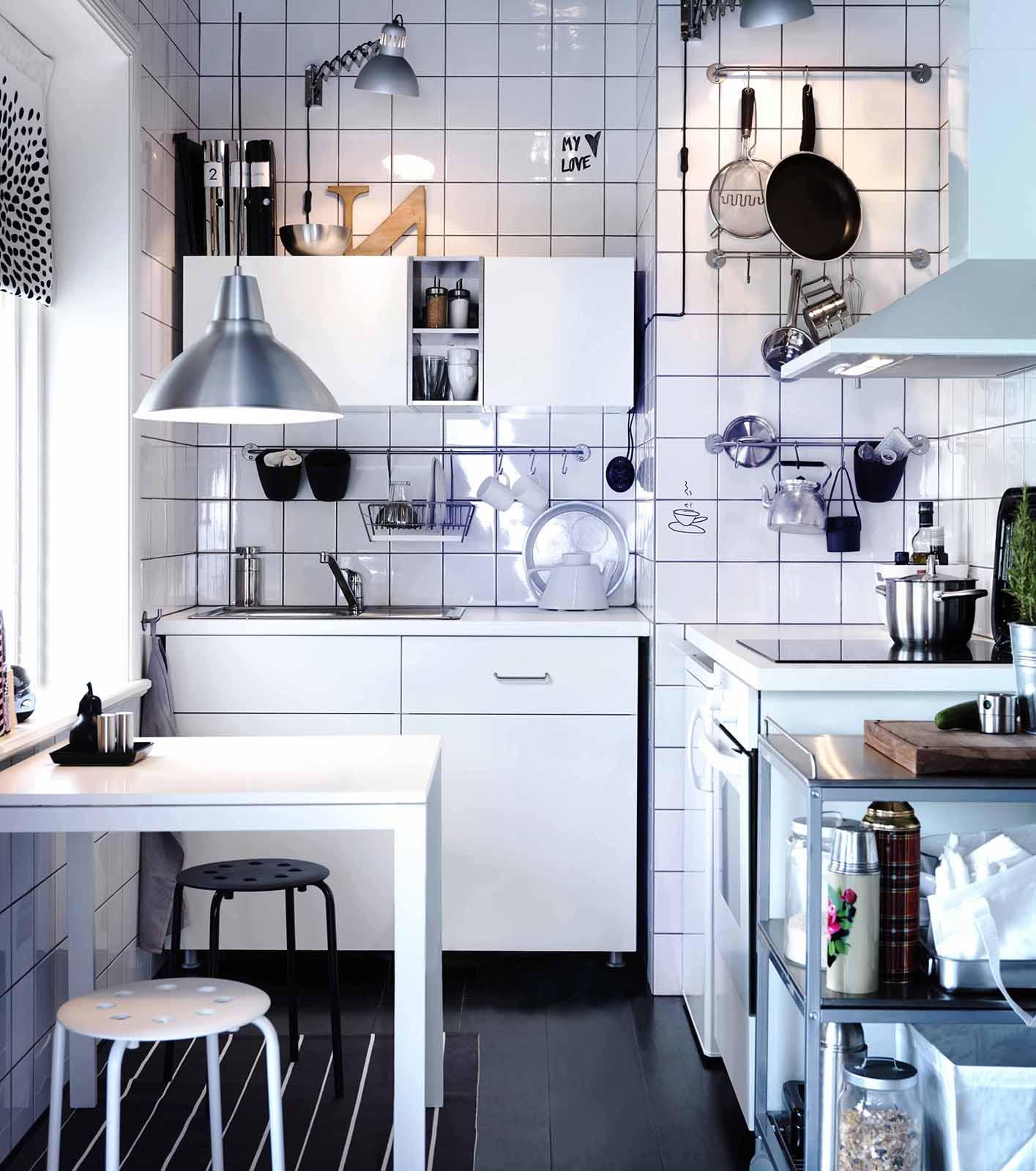 Di Dinding Dapur Dari Atas Untuk Menerangi Lampu Sorot Adjule Dengan Dukungan Tray Ruang Kerja Pantograph Dan Gantung Tenang Ikea Cahaya Langsung