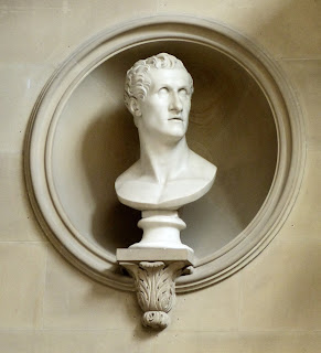 Bust of Canova in Sculpture Gallery, Chatsworth © A Knowles (2014)