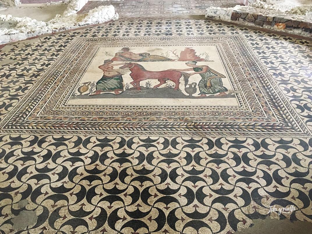 Mosaico de Pegaso en el Museo de las Villas Romanas