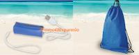 Logo Sorrisi e Canzoni TV: carica batterie portatile e sacca porta tutto Summer Set