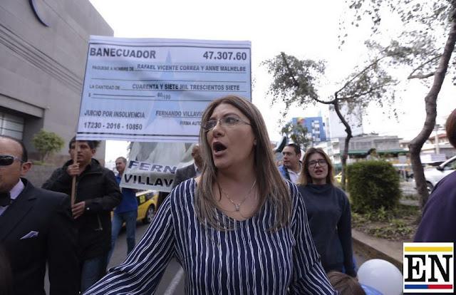 Rafael Correa indemnizacion injuria Fernando Villavicencio