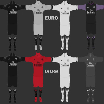 PES 2013 Real Madrid Full Fantasy Kit 16/17