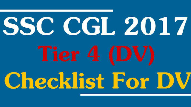 SSC CgL Document list