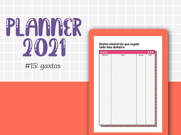 PLANNER 2021 #15: controle de gastos