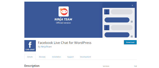Install and customize facebook live chat for wordpress