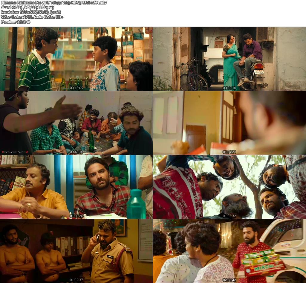 Falaknuma Das 2019 Telugu 720p HDRip ESub x264 | 480p 300MB | 100MB HEVC Screenshot