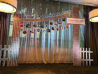 Thi công cổng chào backdrop sự kiện quảng cáo đơn giản