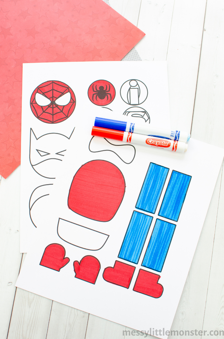 Printable superhero template