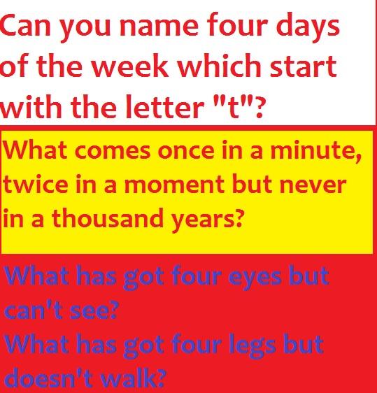 online riddles naděje na rekapitulaci
