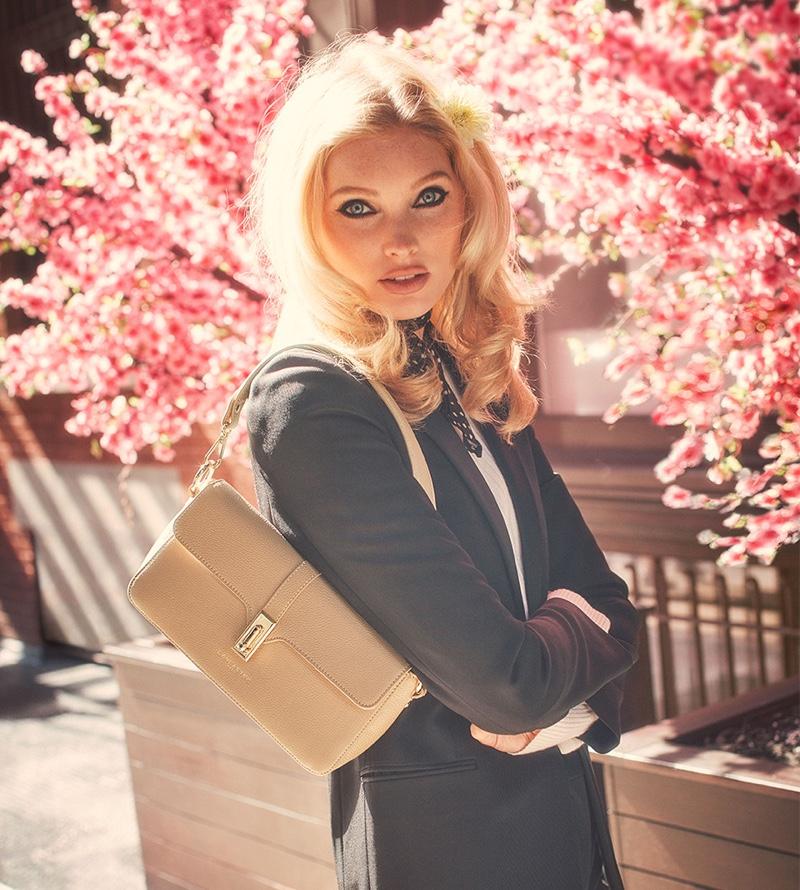 Elsa Hosk Charms in Lancaster Spring 2020 Campaign