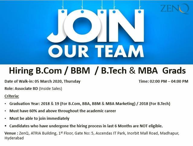 Freshers jobs 3rd  March 2020
