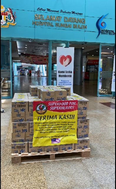 HOSPITAL SUNGAI BULOH COVID-19 SUPERHEROES RECEIVE SUPERFOOD SURPRISE FROM AYAM BRAND