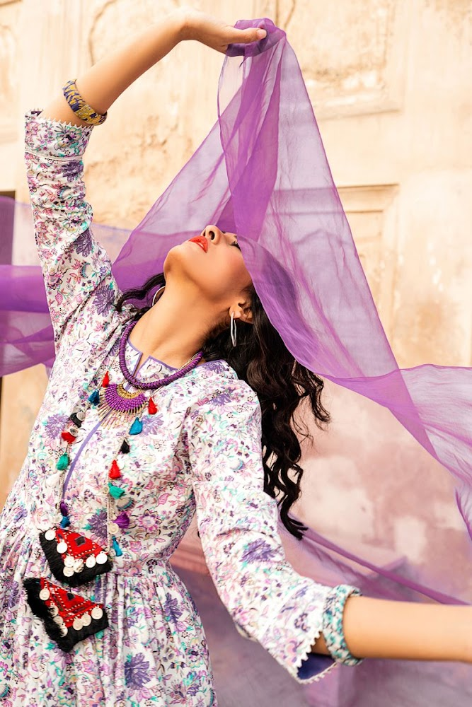 Gul Ahmed Purple suit Summer Collection