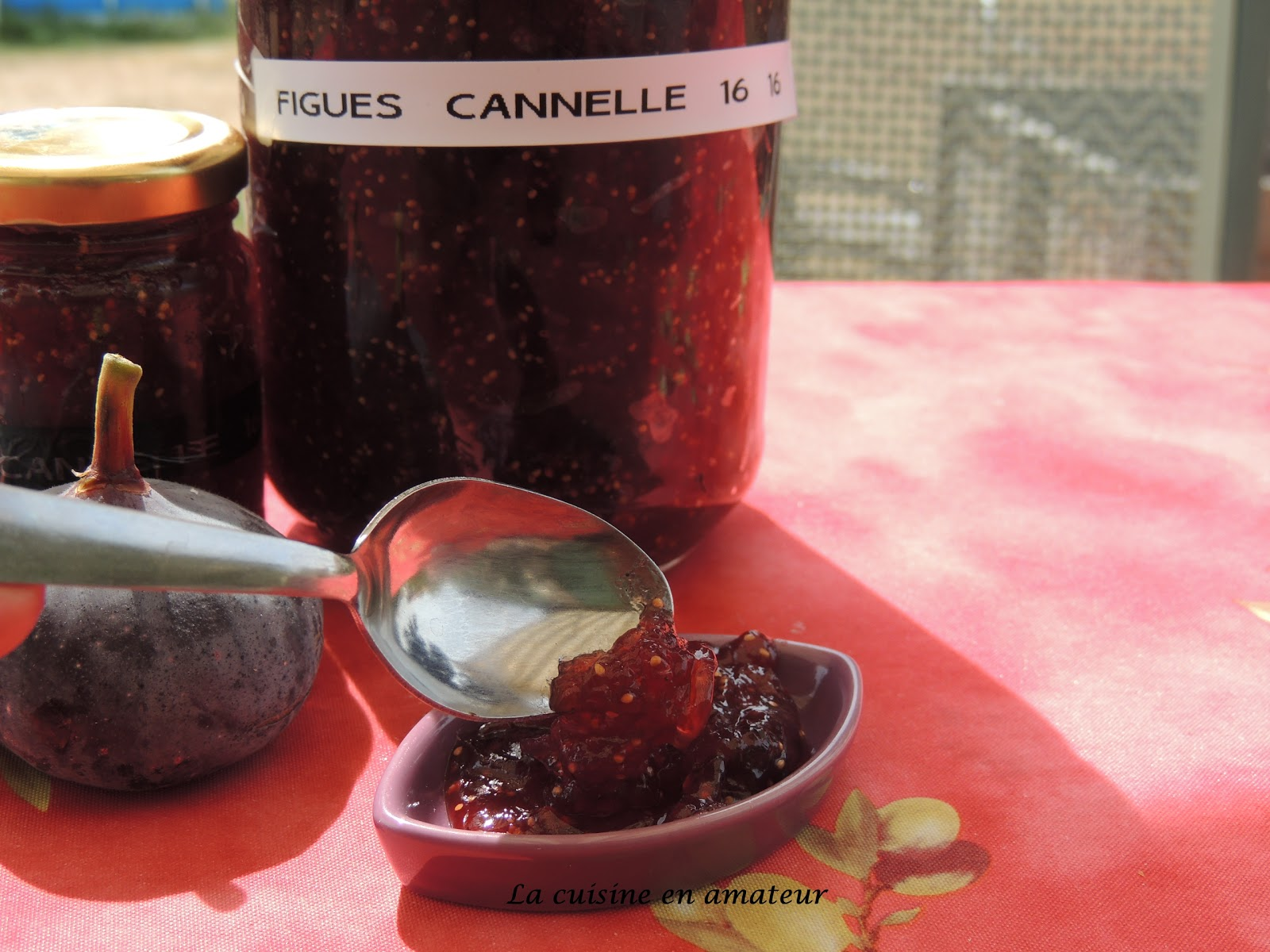 confiture de figues a la cannelle