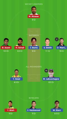 AUS vs PAK Dream11 team