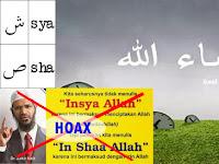 Hoax Dr. Zakir Naik soal Penulisan Insya Allah atau In Shaa Allah, Ini Yang Benar