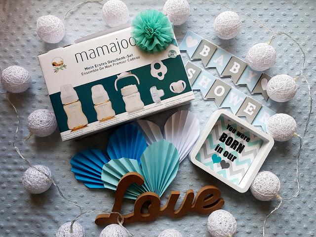 Mamajoo - mój pierwszy zestaw prezentowy - wyprawka dla niemowlaka - prezent na baby shower - butelka do karmienia - smoczek niemowlęcy - gryzak niemowlęcy - wyprawka niemowlęca - wyprawka dla dziecka