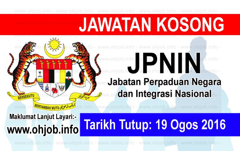 Jawatan Kerja Kosong Jabatan Perpaduan Negara dan Integrasi Nasional (JPNIN) logo www.ohjob.info ogos 2016