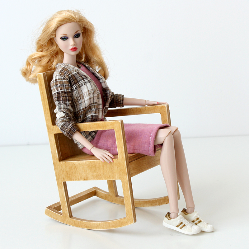 1/6 scale rocking chair for Poppy Parker dolls