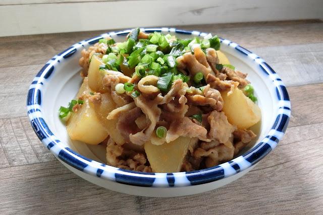 大根と豚肉の味噌炒め煮