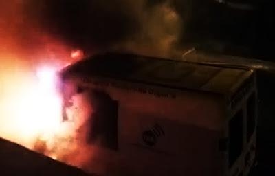 Las ambulancias de Telde no se incendiaron  por un meteorito