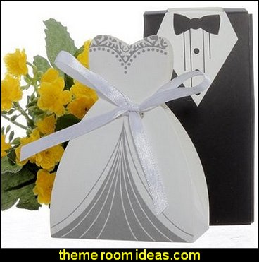 Dress & Tuxedo Bride Party Wedding Favor Wedding decorations - bridal bouquets  - wedding themes - wedding decorating props - wedding supplies - wedding dress for bride - favor boxes - bridal veils -