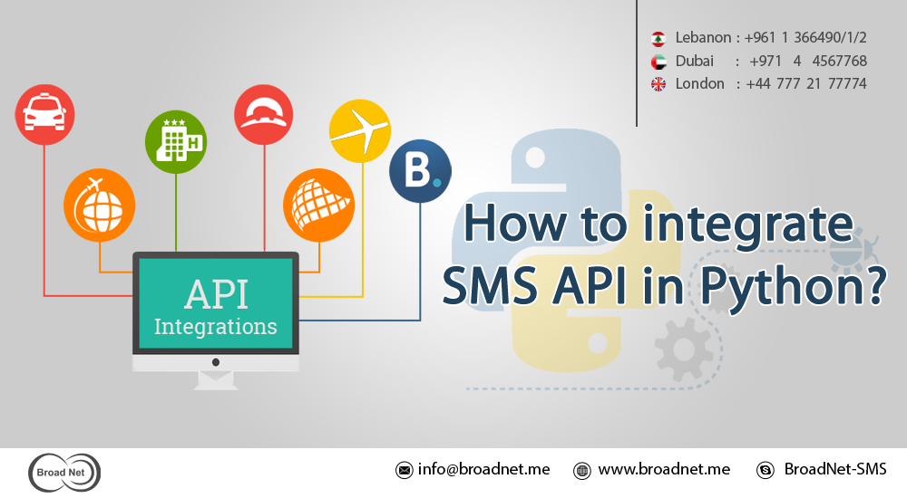 How to integrate sms api in python