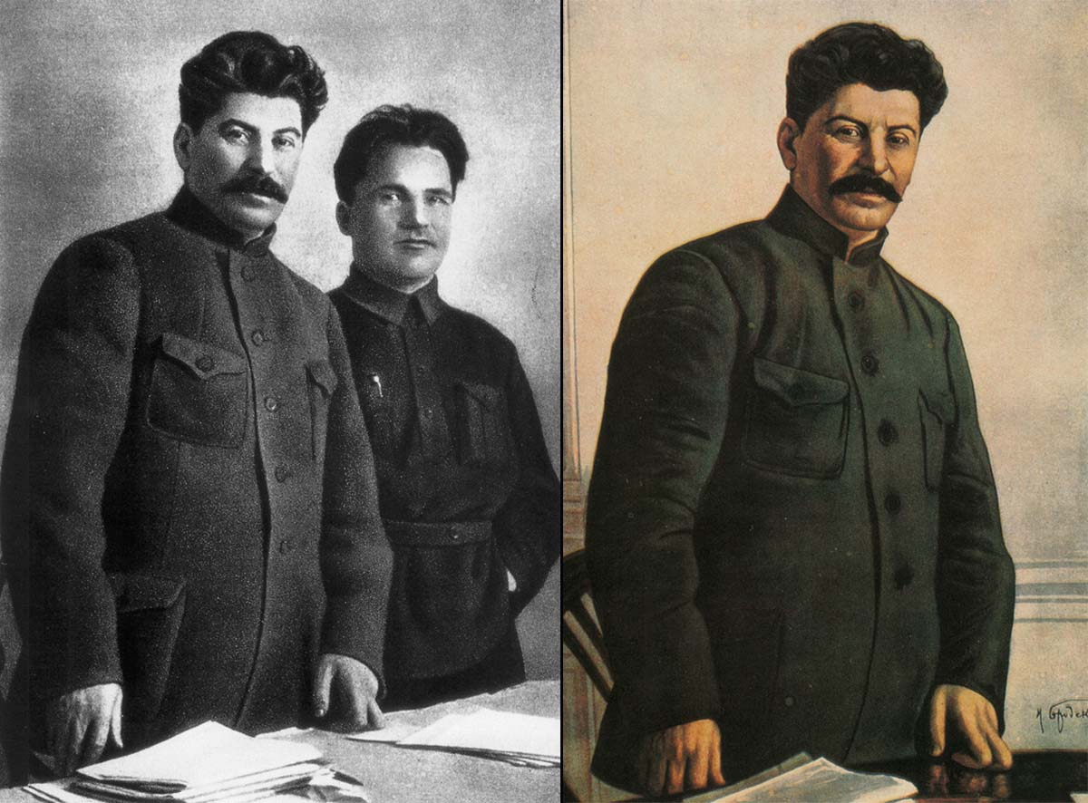 After all the photo manipulations done through the years, Stalin stands alone.