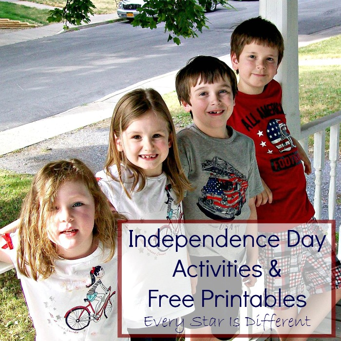 Independence Day Activities & Free Printables