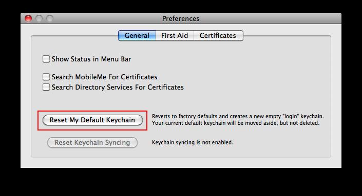Fix Safari keeps asking keychain password