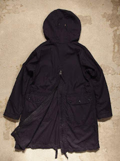 "Engineered Garments ""Over Parka in Dk.Navy Uniform Serge"""