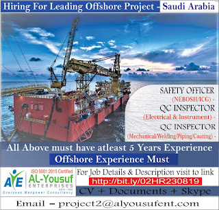 Offshore Project hiring for Saudi Arabia