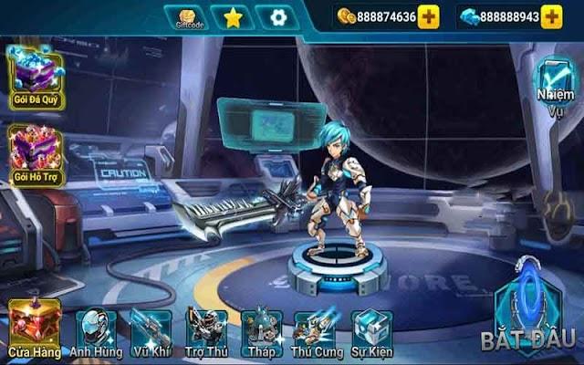 Anh hùng Vũ trụ M.O.D kim cương (gems) – Game Hero Galaxy Tiếng Việt cho Android