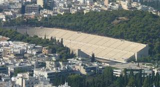 Estadio Panatenaico desde la Colina Licabeto.