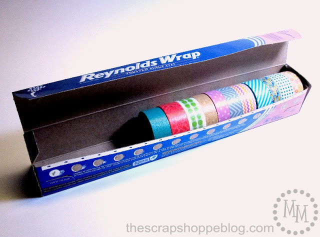 aluminum foil box washi tape organizer