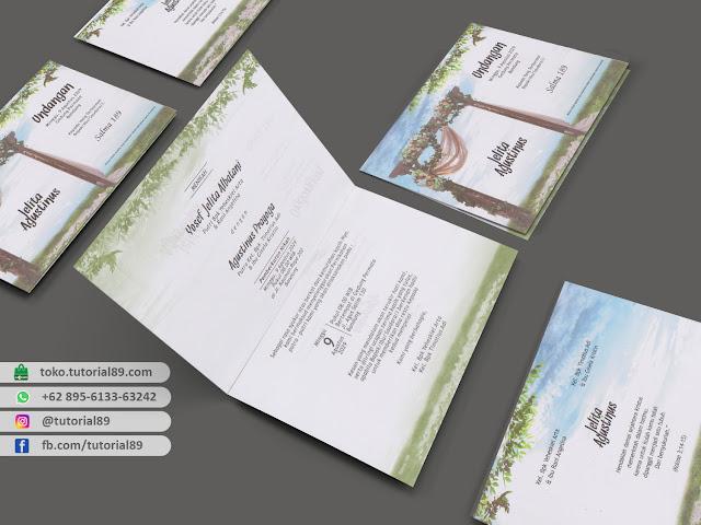 Undangan pernikahan 89.S189 - Seimpel Lipat 2 +stiker label undangan