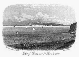 A view of Portland from a Weymouth guidebook from 1857