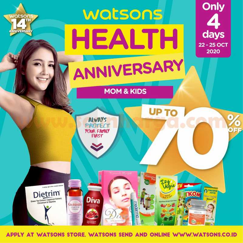 Watsons Promo Health Anniversary Disc Up To 70%