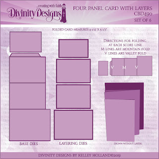 FOUR PANEL CARD WITH LAYERS DIE