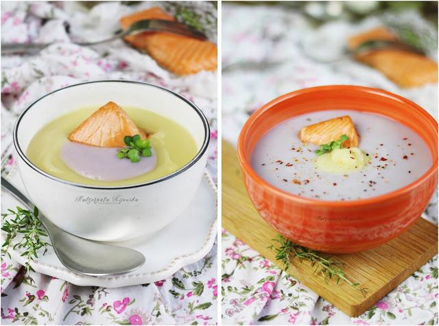 przepis na zupę ziemniaczaną, co zrobić z fioletowych ziemniaków, fioletowe ziemniaki, daylicookin