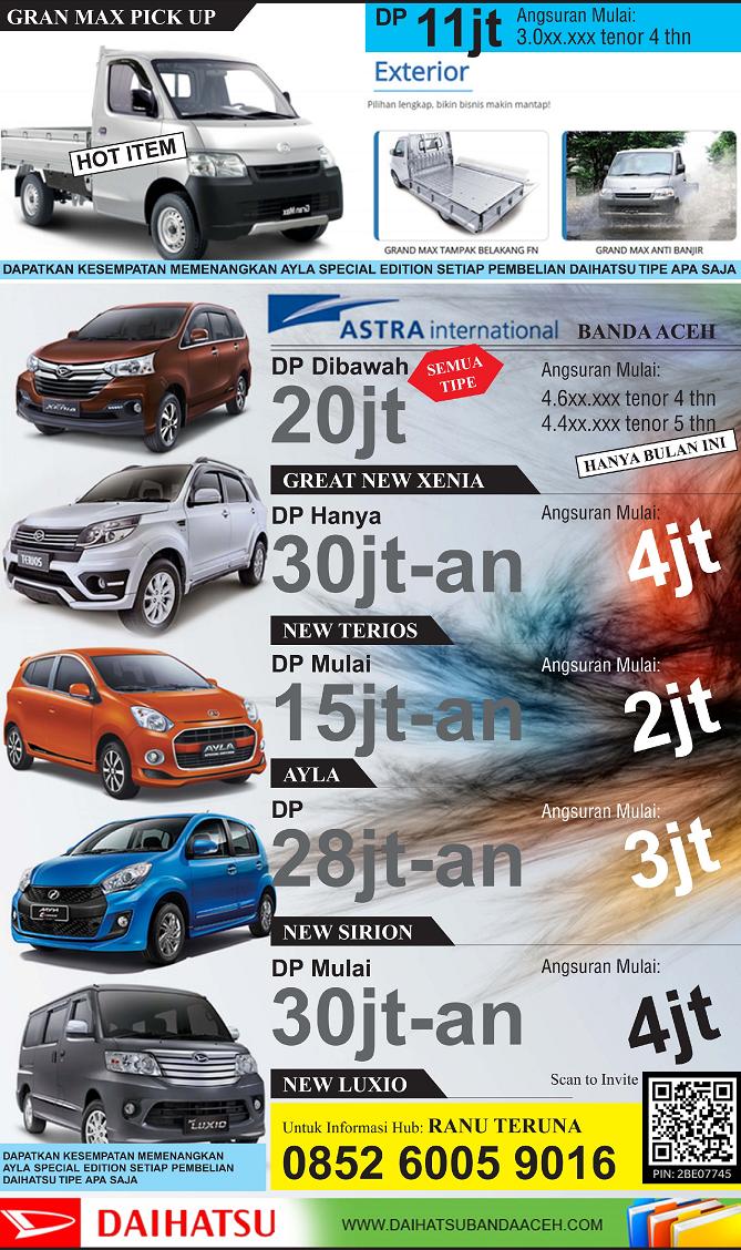 Daihatsu Ayla New Terios Xenia Sirion Luxio Gran Max Daihatsu Banda Aceh Promo Daihatsu Banda Aceh Harga Daihatsu The Best Sales Daihatsu Banda Aceh
