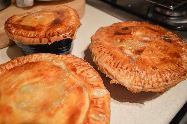 Three Fish and Leek pies