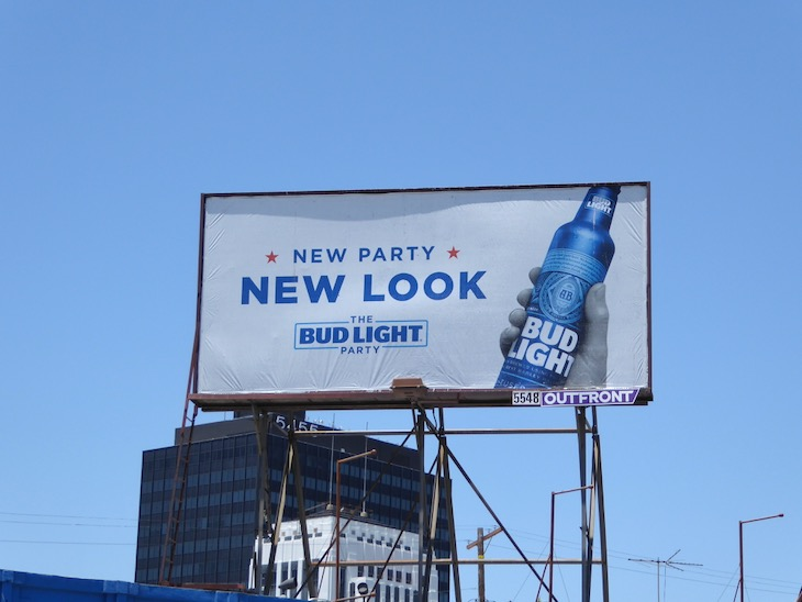 New Party Look Bud Light billboard