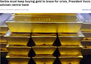 탈달러 : 세르비아 금 매수 지속, 외환보유고 금 비중 10%
