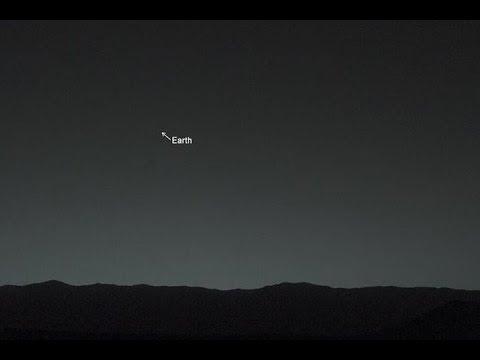 Imágen de la tierra desde Marte por Curiosity rover