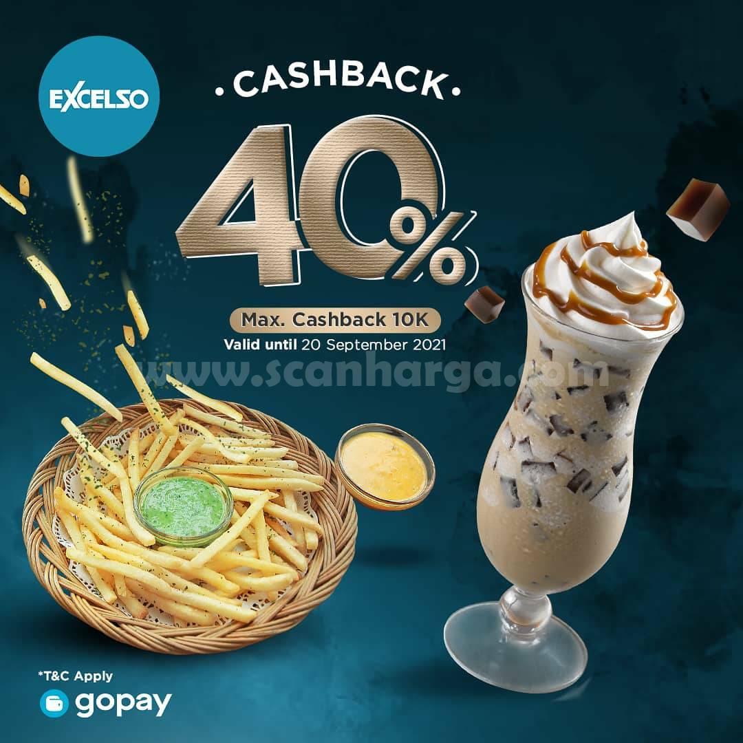 Promo Excelso Cashback 40% khusus transaksi pakai GOPAY