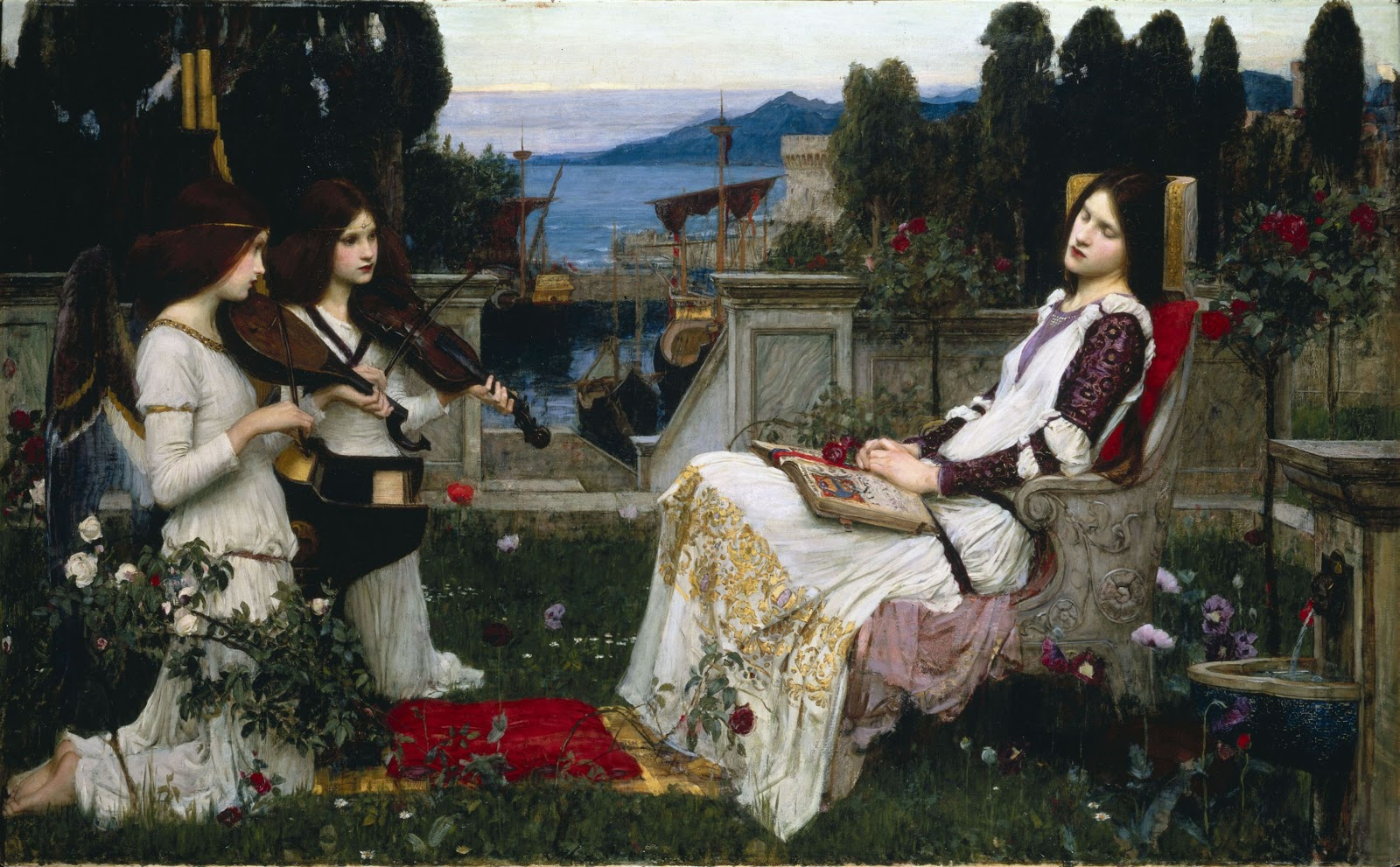 John William Waterhouse  E   Saint Cecilia