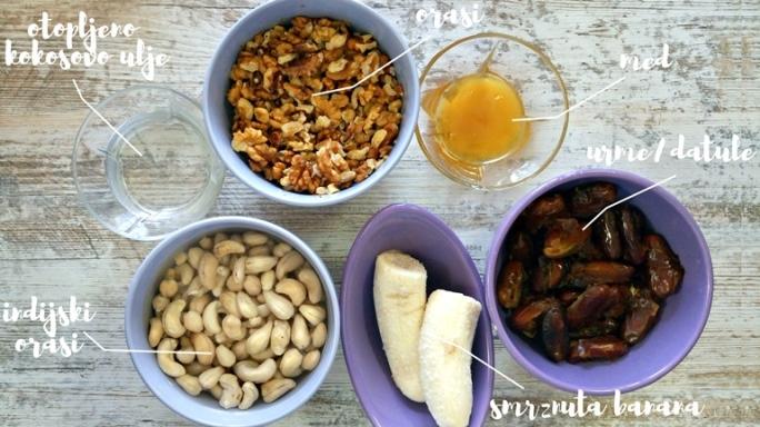 sirova torta od banane orasa i badema